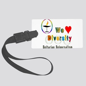 UU We Love Diversity Large Luggage Tag